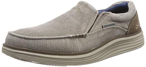 Skechers Men's Status 2.0-Mosent Moccasins, Green (Khaki Khk), 9 UK (43 EU)