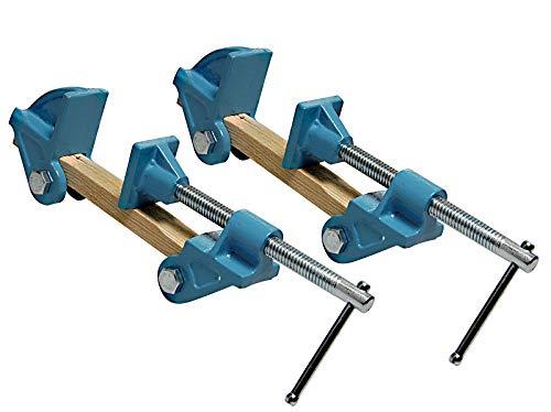 2 Stück Schraubstock mit unbegrenzter Spannbreite Backenweite 40mm Spannelement Schraubzwinge Verleimpresse