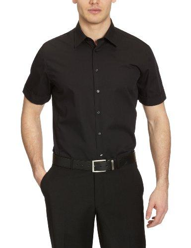 Seidensticker Herren Business Hemd, Schwarz (Schwarz 84), 40