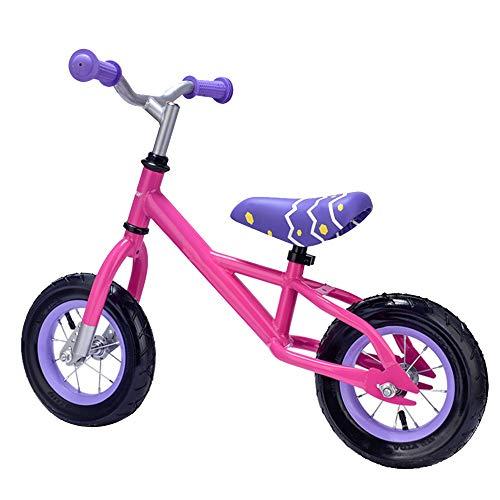 YumEIGE Loopfiets voor kinderen, lichte carrosserie, kinderloopfiets met Eva-banden, eenvoudig te monteren, slijtvast en corrosiebestendig roze