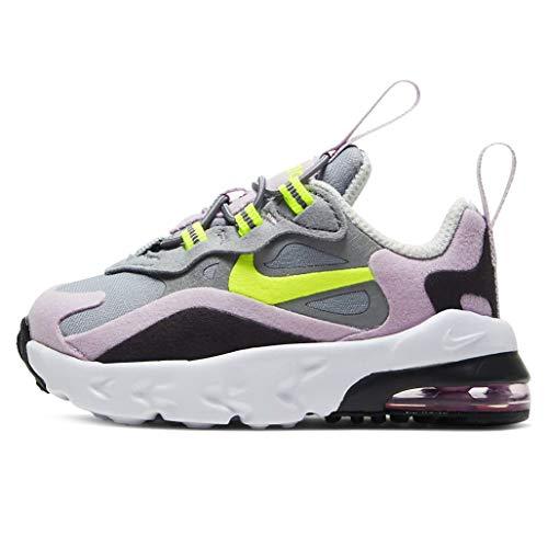 Nike Air MAX 270 RT (TD), Zapatillas de Gimnasio, Particle Grey Lemon Venom Iced Lilac Off Noir, 22 EU