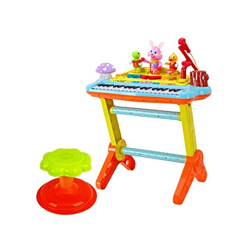Digitale piano Children's Electronic Piano Kinderspeelgoed Multifunctionele Electronic Piano 3-6 Jaar oud puzzel Girl Toy Piano Power Battery Dual Power Supply (Kleur: Multi-gekleurde)