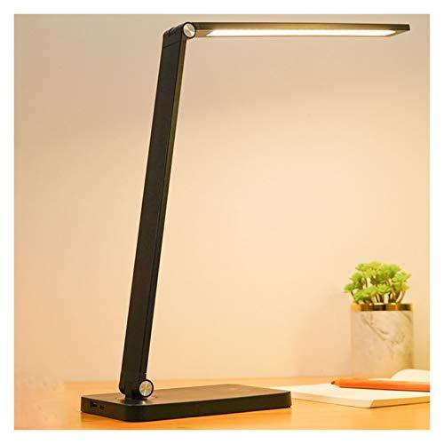Lámpara de Escritorio Led Lámpara De Escritorio LED Luz De Escritorio Con Cargador Inalámbrico Puerto De Carga USB Lámpara De Caradura De Ojo Para La Oficina De Estudio Lámparas Infantiles de Escritor