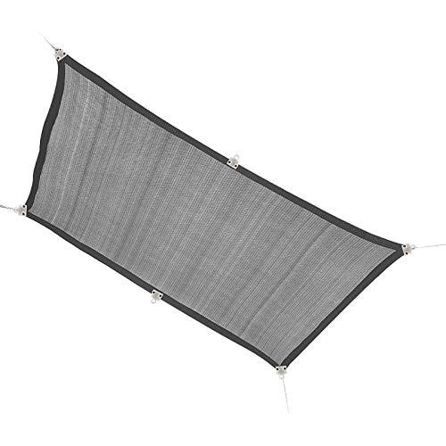 Amadon Rectángulo Parasol Vela Toldo Impermeable Toldo al Aire Libre Refugio Solar Bloque UV Paño de Cubierta Paño para Patio Jardín Piscina Cubierta Patio Trasero,Gris,3x3m