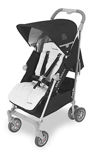 Maclaren Techno XLR arc Buggy – Größter Regenschirm-Falt-Buggy für Neugeborene bis 29 kg. Ausziehbare Haube, extra gepolsterter Flachsitz mit verstellbarer Positionen, 4-Rad-Federung