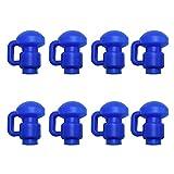 Tapas para Trampolín, Casquillos de Poste en Forma de G Recinto para Usar para Anillos de Fibra de Vidrio o Metal en la Parte Superior de Trampolín Repuesto, 8 Unidades, Color Azul, 3,81 cm