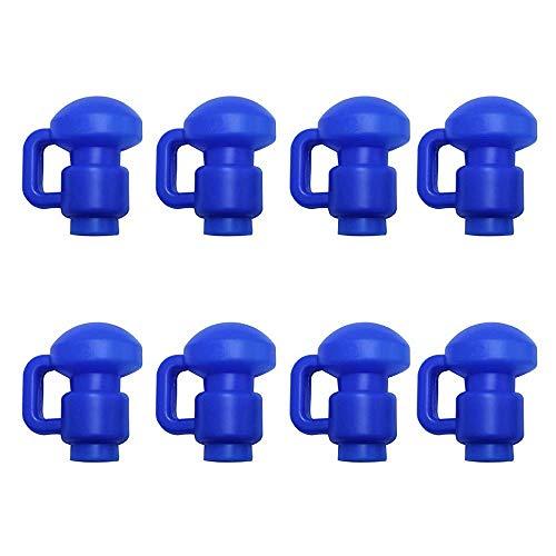 Upper Bounce 8pcs Tappi Terminali Trampolino per Aste, Cappucci di Plastica Trampolino, Rinforzi per La Rete di Sicurezza di Trampolino Cappuccio per Pal, Blu 25mm / 1-inch Pali di Diametro