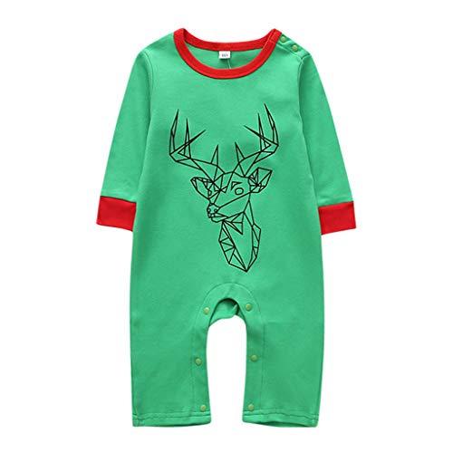 Moneycom recién nacido niño niño niño linda Barbotín falda Navidad Cosplay Playsuit ropa 2019 Nuevo producto bonito cómodo rojo verde verde 12-18 Meses