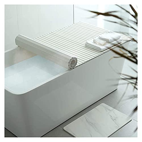 Cubierta de la bañera Cubierta de baño Anti-polvo plegable placa de polvo bañera cubierta de aislamiento PVC blanco plegable bañera cubierta Materiales seguros y ecológicos. ( Size : 150*80*1.2cm )