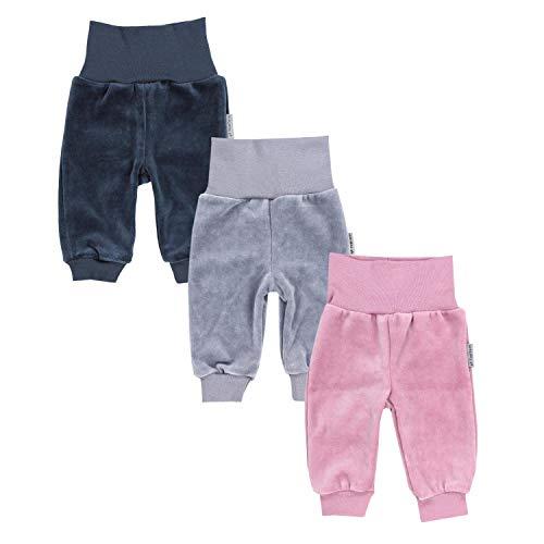 TupTam Baby Mädchen Nicki Hose Jogginghose 3er Pack, Farbe: Farbenmix 1, Größe: 74