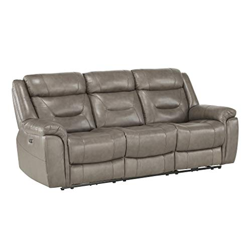 Homelegance 87' Power Double Reclining Sofa, Brown