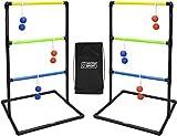 Ubergames Europe 2X Leitergolf Spiel - Soft Bolas - Komplett Doppel Leiter - Tragetasche - Kunststoff - 6 Rubber Bolas - Topspiel