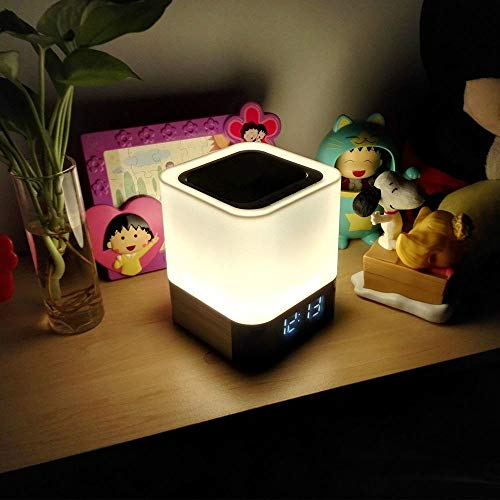 Night Light - 5 in 1 Bedside Lamp with Bluetooth Speaker, Touch...
