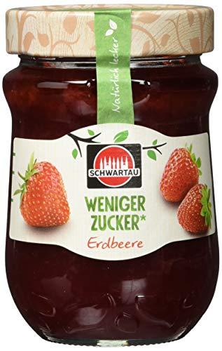 Schwartau weniger Zucker Erdbeere, Fruchtaufstrich, 8er Pack (8 x 300g)