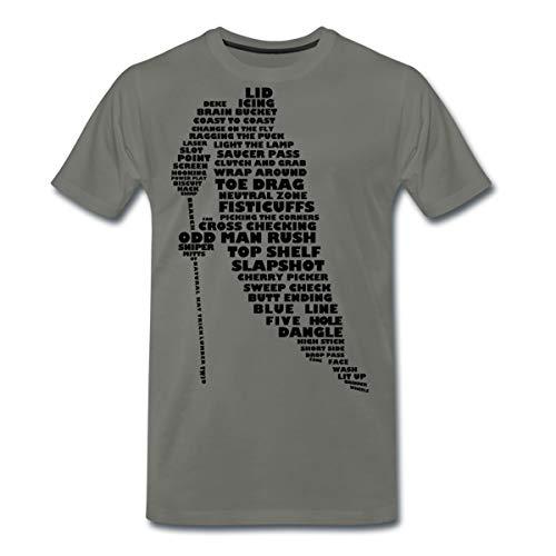 Eishockey Terminologie Ice Hockey Begriffe Männer Premium T-Shirt, S, Asphalt