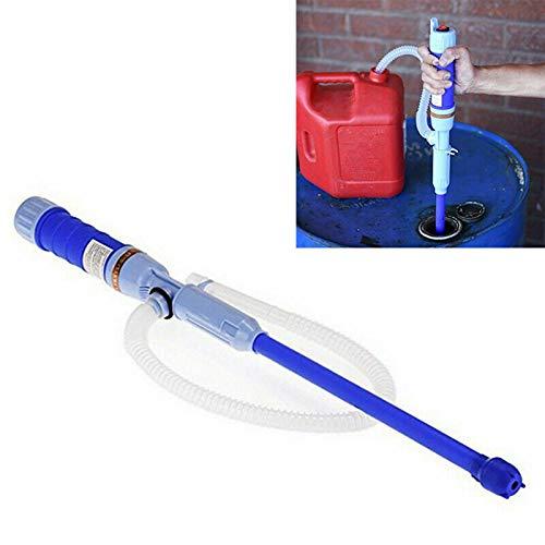 Coriver Pompe à Eau portative à Piles, Pompe Diesel, Pompe de Transfert électrique, Pompe à Siphon de Carburant, Pompe à Huile, Pompe à Essence, Pompe d'aspiration d'eau Bleu