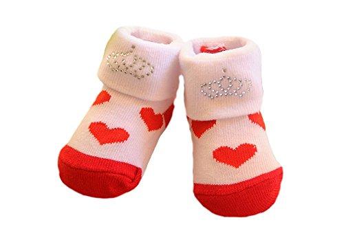 Soft Touch Baby Socken Herzchen Krone Söckchen Erstlingssocken 50 56 62 68 Strümpfe