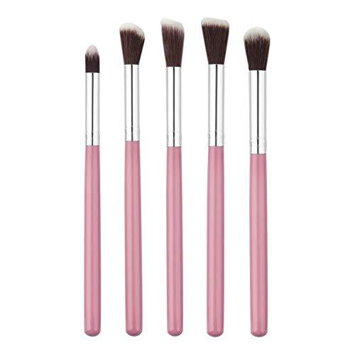 Kathariiy Lot de 10 pinceaux de Maquillage avec Gouttes d'eau Rose en Forme de Rose pour Filles