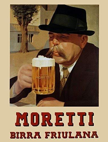 Placa de metal de 20 x 30 cm, diseño de cerveza de...