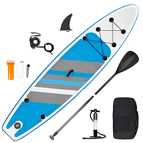 inty Stand Up Paddle Board Inflable, Paddle de PVC/EVA con Remo Ajustable, Bomba de Doble acción, Correa de Transporte, Caja de reparación, alerón (RY-307)