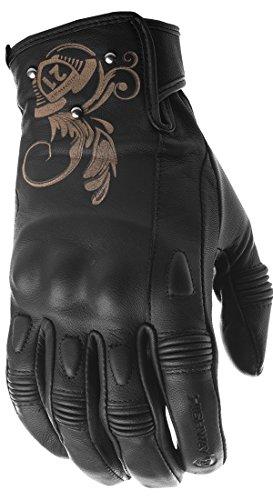 Highway 21 Black Ivy Motorbike Leather Gloves