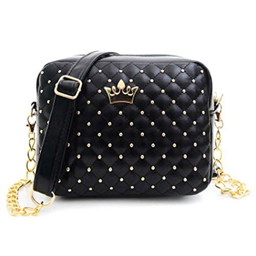 Fascigirl Ladies Crossbody Bag Diamond Pattern Faux Leather Fashion Messenger Bag Shoulder Bag Crossbody