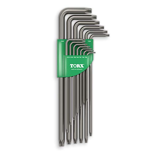 TORX® 70464 Set di Chiavi (Extra lunghe) 13pz, TX5–TX50 — Made in Germany