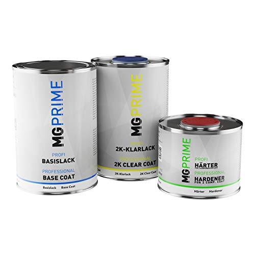 MG PRIME Autolack Dose Set für Skoda 9885 / E1/8H Hotchillired Perleffekt/Rouge Piment Nacre Basislack 2K Klarlack Härter spritzfertig 2,5L