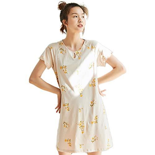WEWE badjas voor dames met lange mouwen van katoen, losse mouwen, pyjama, schattig en cowns in maat