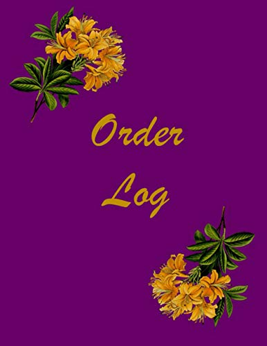 Order Log: Daily Sales Tracker   Purchase Order Tracker   Customer Order Tracker   Perfect for Online Businesses and Home-Based Businesses   A4 Size