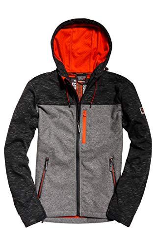 Superdry Hooded SD-windtrekker Abrigo, Gris (Charcoal Slub/Charcoal Feeder B5x), Small para Hombre