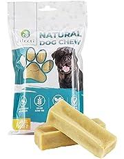 Himalayan Dog Chew - nie tylko długotrwały gryzak dla psa, ale także kij dentystyczny do walki z płytką nazębną i kamieniem nazębnym! Paluszki do gryzienia dla psów Dilecti to przysmaki bezglutenowe i modyfikowane genetycznie wykonane z mleka. (zestaw 2 w rozmiarze XXL)