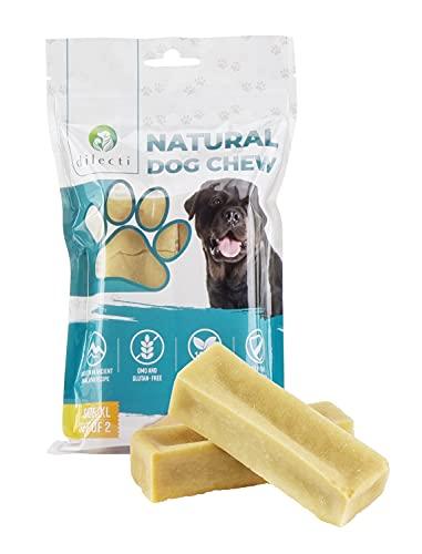 Dilecti Masticable Natural del Himalaya - ¡Juguete masticable para Perros de Larga duración! ¡Los palitos masticables para Perros no contienen OMG ni Gluten! (Juego de 2, Talla XXL)