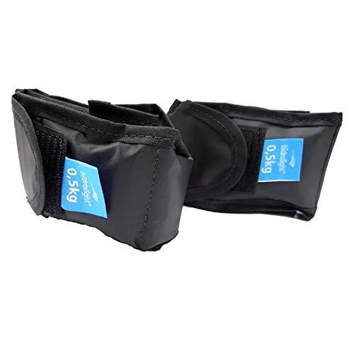 Caneleira Peso Kit 1Kg (2 de 0,5Kg), Hidrolight, preto