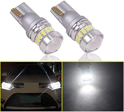 Eseastar T10 W5W 501 Bombillas LED 12V-24V 194 168 161 12961 20LED SMD3014 con proyector para luces laterales de coche, luz de matrícula interior y más, 6000K blanco