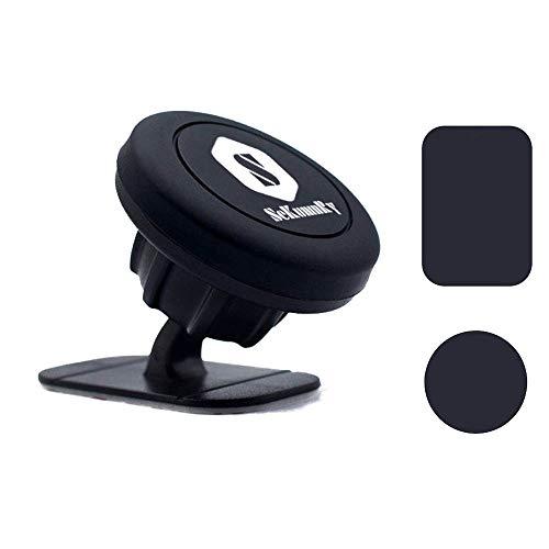 Soporte magnético para coche de SeKunmRy para teléfonos móviles y tabletas con 2 placas de metal