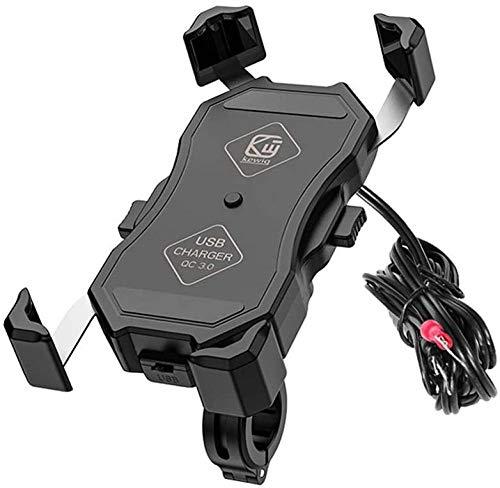 JWCN Rotación Universal del Soporte del teléfono de la Motocicleta de la Bicicleta USB para el iPhone Samsung Galaxy y Otros teléfonos Inteligentes con Pantalla de 3.5-6.5 Pulgadas Uptodate