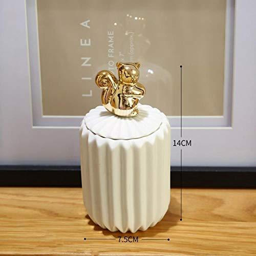 DAYI Keramik Tier Aufbewahrungsgläser für Gewürze Candy Bear Kaninchen Tank Container Schmuck Aufbewahrungsbox Kaffeedose Flasche Küchenorganisator, 8