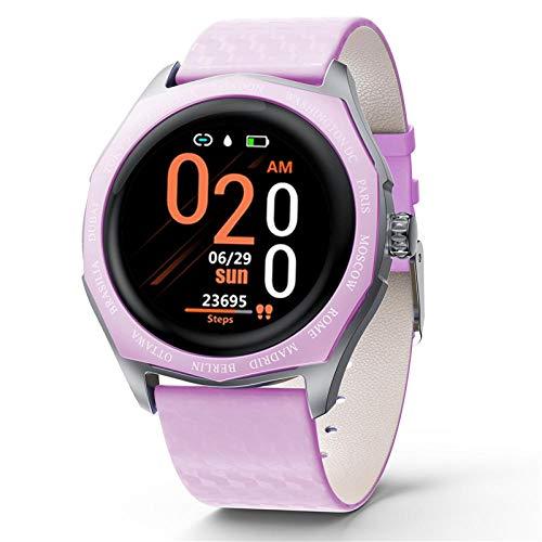 NUNGBE Smartwatch, Damen 1,22 Zoll Full Round Touchscreen Farbwechsel Armband, Herzfrequenzüberwachung, Damen Smartwatch-Lila