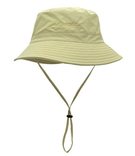 Home Prefer Unisex Mens Womens Daily Summer Hat Plain Sun Protection Bucket Hat (Khaki)