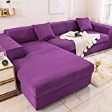 WXQY Einfarbige elastische Sofabezug L-förmige Eckbezug Sessel Sofabezug rutschfeste All-Inclusive-Sofabezug Sofabezug A7 1-Sitzer