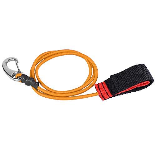 OhhGo Correa de remo de kayak, cuerda elástica para navegación, kayak, remo de seguridad, con mosquetón para remo, color azul