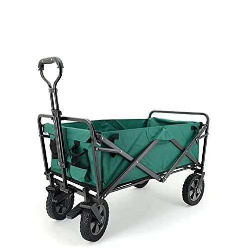 Middle Carro de Mano para jardín, Carro Plegable, Carro de Remolque para jardín Plegable para Exteriores Carro de Mano para Cochecito Giratorio de hasta 70 kg