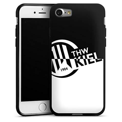 DeinDesign Silikon Hülle kompatibel mit Apple iPhone 7 Case schwarz Handyhülle Handball THW Kiel Fanartikel