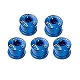 Silverdewi 5PCS / Set Perno de Plato de aleación de Aluminio Tornillos de Rueda de Cadena de Bicicleta Tornillos de Disco de Bicicleta MTB de Carretera para bielas - Azul