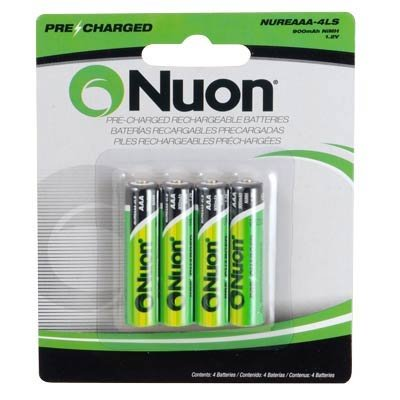 Nuon - NUREAAA-4 1.2V NUON AAA Rechargeable Battery