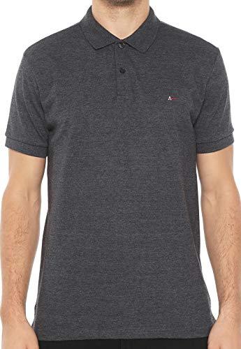 Camisa polo com detalhe interno, Aramis, Masculino, Grafite Mescla, G