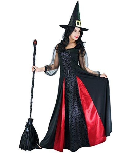 SEA HARE Traje de Bruja Elegante de Halloween de Mujer Adulta (L)