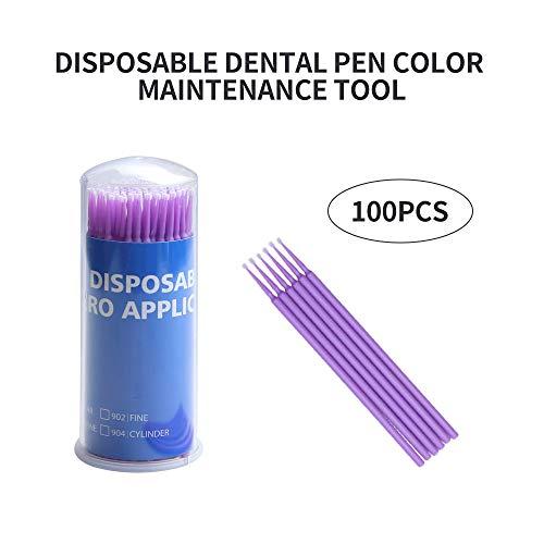Touch Up Paint Brushes for Automotive Paint Chip Repair Disposable Micro Applicators (S:1.5mm, Purple)