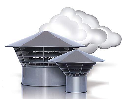Máscarade ventilación - salida de aire - techo sistema original 'sistemas de apertura de' 160 DN/150 para montaje en el tubo (150 mm)
